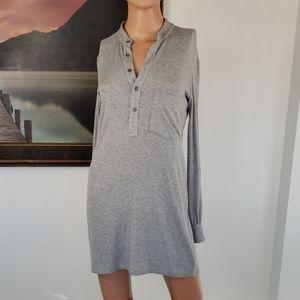 HAUTE HIPPIE🦄Ribbed Long Sleeve Henley Dress XS